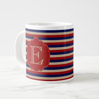 Rustic Country Winter Monogrammed Large Coffee Mug