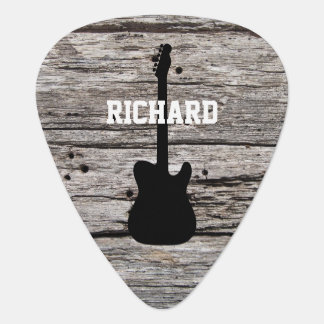 Rustic Country Wood Guitar Pick