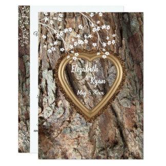 Rustic Country, Wood Heart Frame, Wedding Advice, Card