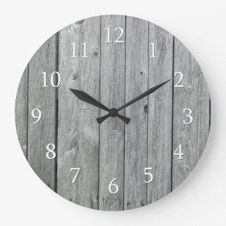 Rustic Country  Wood Large Clock