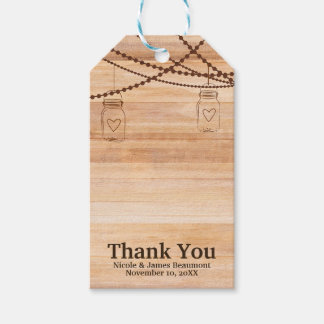 Rustic Country Wood Mason Jars Barn Wedding Favor Gift Tags