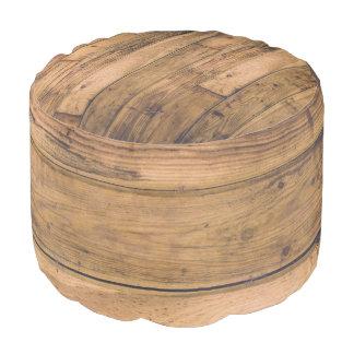 Rustic Country Wood Wooden Planks Boards Oak Pouf