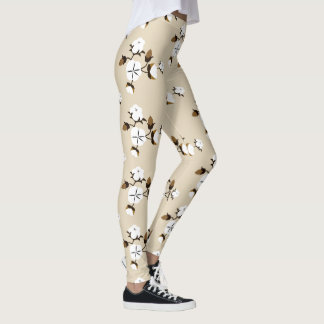 Rustic County Cotton Flowers Leggings