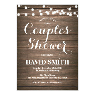 Rustic Couples Shower Invitation Card