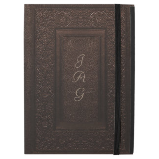 Rustic Covers Engraved Leather In Original Brown