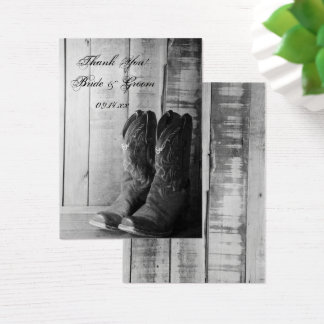 Rustic Cowboy Boots Country Wedding Favor Tags Business Card