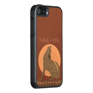 Rustic Coyote Southwest Faux Leather iphoneSE OtterBox iPhone 5/5s/SE Case