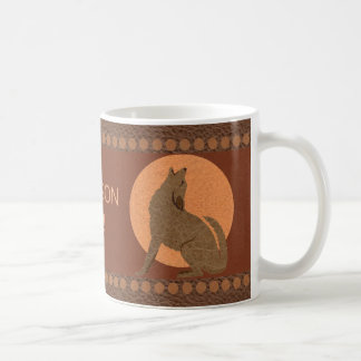 Rustic Coyote Southwest Faux Leather Kitchen Coffee Mug