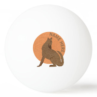 Rustic Coyote Southwest Leather Double Sided Ping Pong Ball