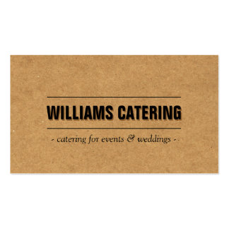 Rustic Craft Cardboard II Bakery/Catering/Chef Business Card Template