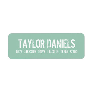 Rustic Custom Color Return Address Labels