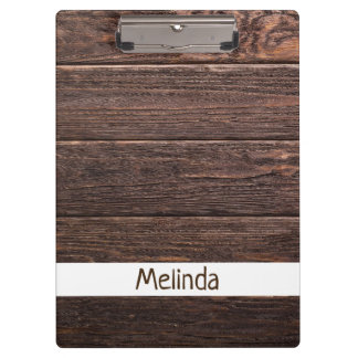 Rustic Custom Wood Clipboard
