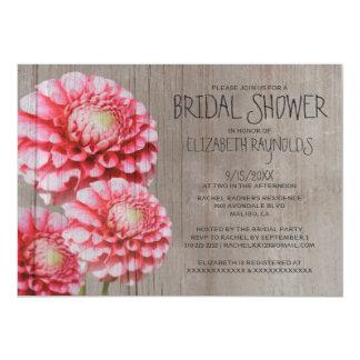 Rustic Dahlia Bridal Shower Invitations