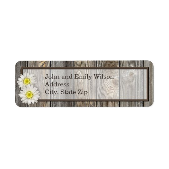 Rustic Daisies Return Address Labels
