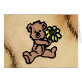 Rustic Daisy Bear Design Card