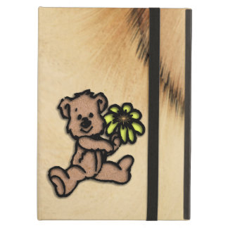 Rustic Daisy Bear Design Cover For iPad Air