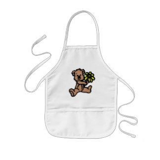 Rustic Daisy Bear Design Kids Apron