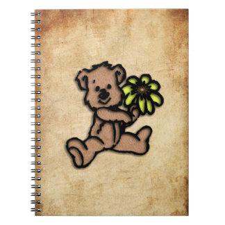 Rustic Daisy Bear Design Notebook