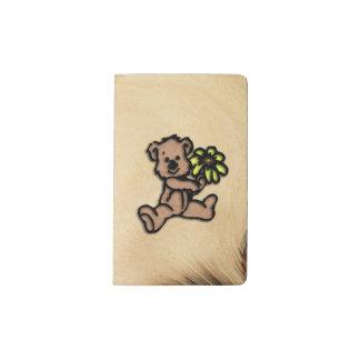 Rustic Daisy Bear Design Pocket Moleskine Notebook