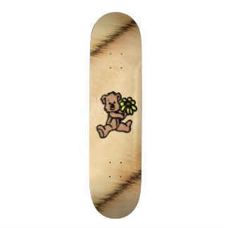 Rustic Daisy Bear Design Skate Board Deck