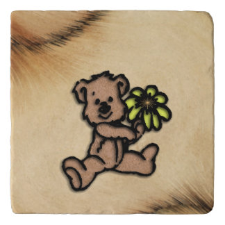 Rustic Daisy Bear Design Trivet