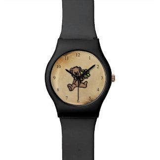 Rustic Daisy Bear Design Watch