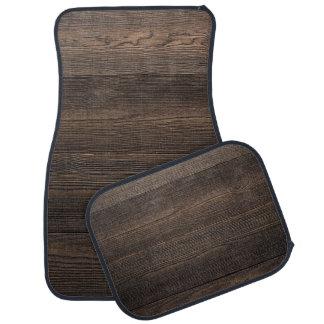 Rustic Dark brown WOOD LOOK texture Car Carpet