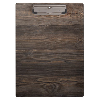 Rustic Dark brown WOOD LOOK texture Clipboard