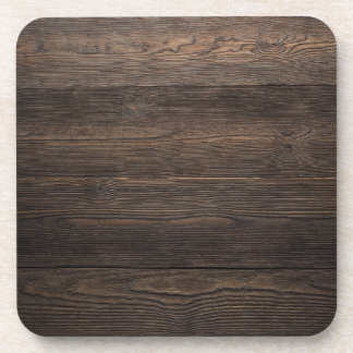 Rustic Dark brown WOOD LOOK texture Coaster