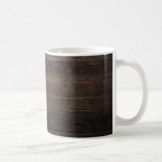 Rustic Dark brown WOOD LOOK texture Coffee Mug