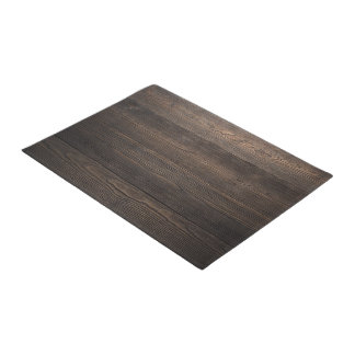 Rustic Dark brown WOOD LOOK texture Doormat