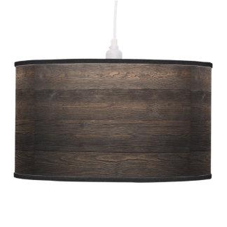 Rustic Dark brown WOOD LOOK texture Pendant Lamp