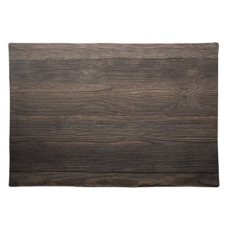 Rustic Dark brown WOOD LOOK texture Placemat