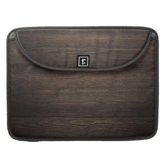 Rustic Dark brown WOOD LOOK texture Sleeve For MacBook Pro