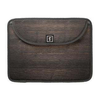 Rustic Dark brown WOOD LOOK texture Sleeve For MacBooks