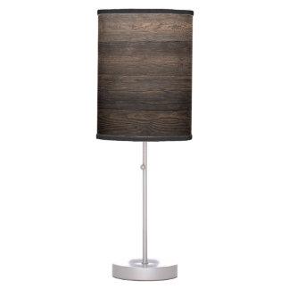 Rustic Dark brown WOOD LOOK texture Table Lamp
