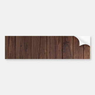 Rustic Dark Brown Wood Wooden Fence Country Style Bumper Sticker