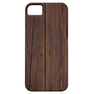 Rustic Dark Brown Wood Wooden Fence Country Style iPhone 5 Case