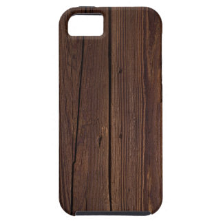 Rustic Dark Brown Wood Wooden Fence Country Style iPhone 5 Cover