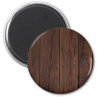 Rustic Dark Brown Wood Wooden Fence Country Style Magnet