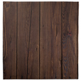 Rustic Dark Brown Wood Wooden Fence Country Style Napkin
