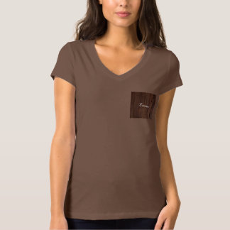 Rustic Dark Brown Wood Wooden Fence Country Style T-Shirt