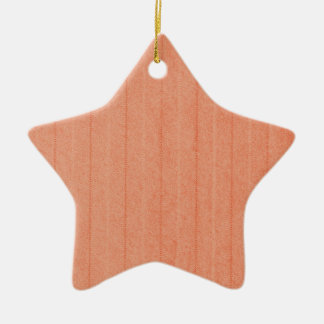 Rustic Dark Salmon Ceramic Star Ornament