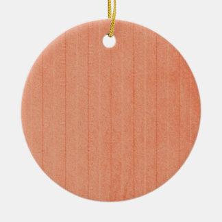 Rustic Dark Salmon Round Ceramic Ornament
