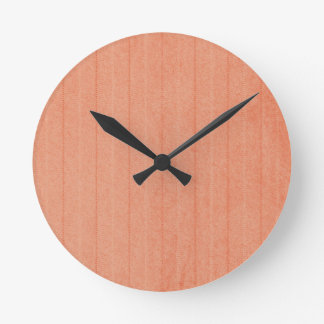 Rustic Dark Salmon Round Clock