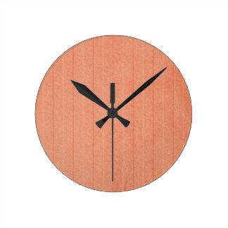 Rustic Dark Salmon Wall Clocks