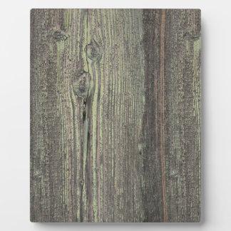 Rustic Dark Weathered Wood Background Plaque