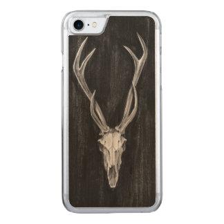Rustic Deer Animal Head Carved iPhone 7 Case