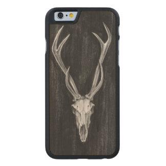 Rustic Deer Animal Head Carved Maple iPhone 6 Case