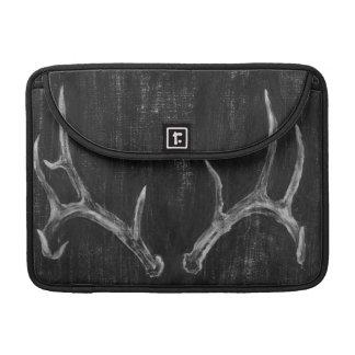 Rustic Deer Animal Head on Chalkboard Sleeve For MacBook Pro